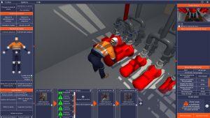 Simulation d'une position de travail